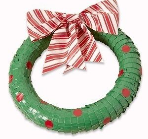 Duck Tape Christmas Wreath