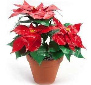 Duck Tape Poinsettia