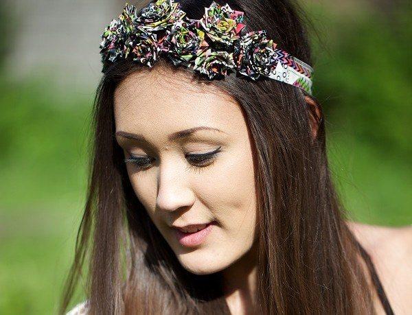 Duck Tape Rose Headband